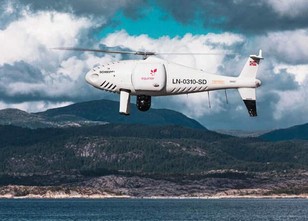 Австрийцы испытали дрон доставкой запчастей на нефтяную платформу