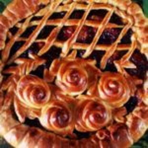 Пирог открытый с повидлом