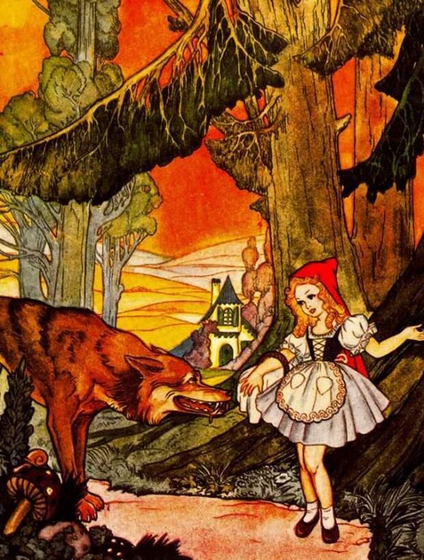 Emilio Freixas. Красная Шапочка и волк / Little Red Riding Hood