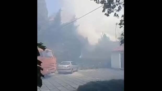 Очевидец: В Ялте горит церковь