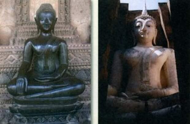 Статуя Будды. Лаос - Статуя Будды. Сукхотай. Таиланд