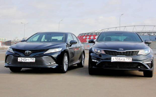 Toyota Camry – Kia Optima: погоня за лидером