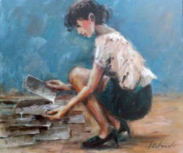 Польский художник. Jerzy Cichecki