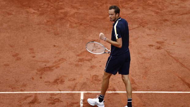 Даниил Медведев вышел в1/8 финала Roland Garros