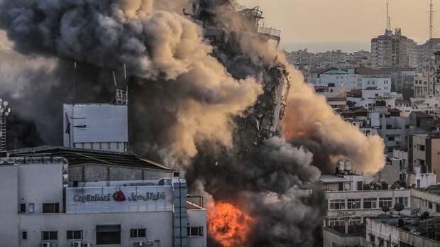 Израильские ВВС ударили по зданию с офисами СМИ в секторе Газа
