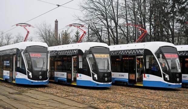 После ремонта открыт участок трамвайных путей на севере столицы
