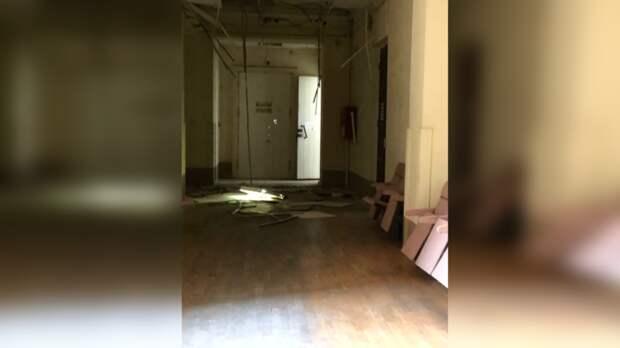 Потолок рухнул вкорпусе ЮФУ вРостове, студентов эвакуировали