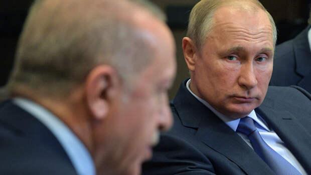 """Эрдоган и Путин обсудили вопрос поставки """"Спутник V"""" в Турцию и ситуацию в Израиле"""