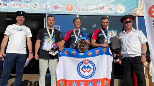 Спортсмены Сакского района приняли участие в Открытом турнире по армрестлингу «Крымская весна-2021»