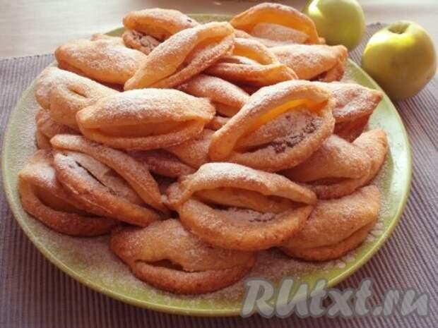Творожное печенье с яблоками и сгущенкой