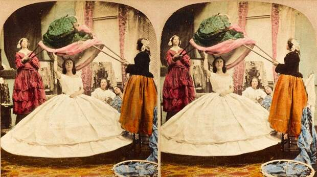 Дамы вгромоздких платьях: как впрошлом женщины справлялись стуалетом