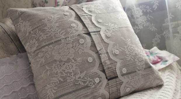 Подушки из старой тюли