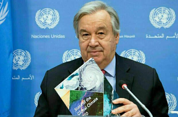 Генсек ООН: мир находится на пути к катастрофе из-за изменения климата