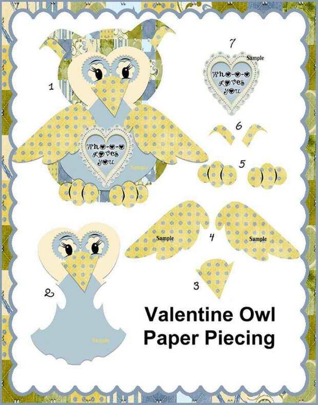 Valentine_Owl_Paper_Piecing_Sample (549x700, 354Kb)