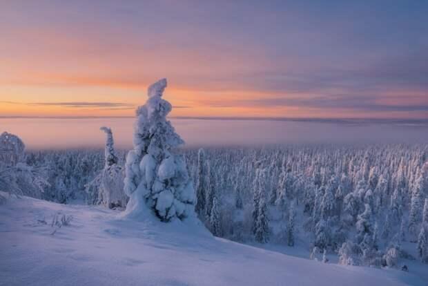 С красотами зимней России может сравниться зимняя Финляндия