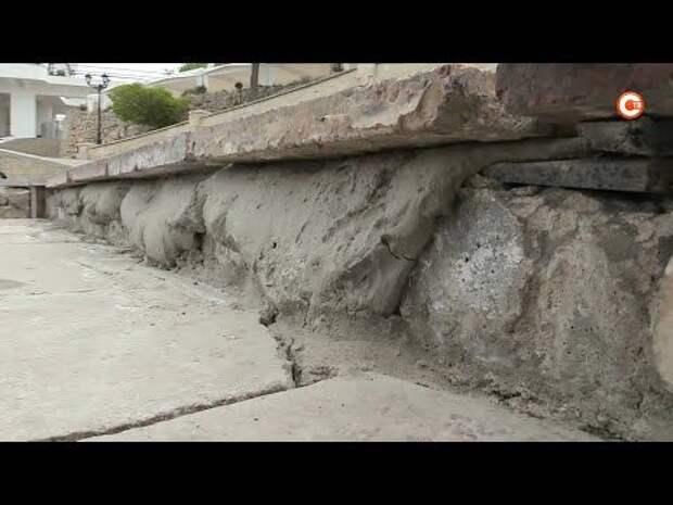 Плитка из обломков на набережной Корнилова — временная мера (СЮЖЕТ)