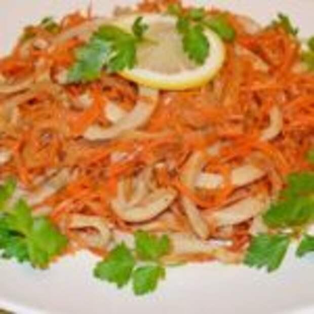 Остренький салат «Оранжевый кальмар» — вкуснятина невероятная!