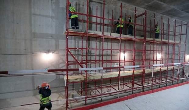 Качество работ проверили на строительстве станции БКЛ «Терехово»