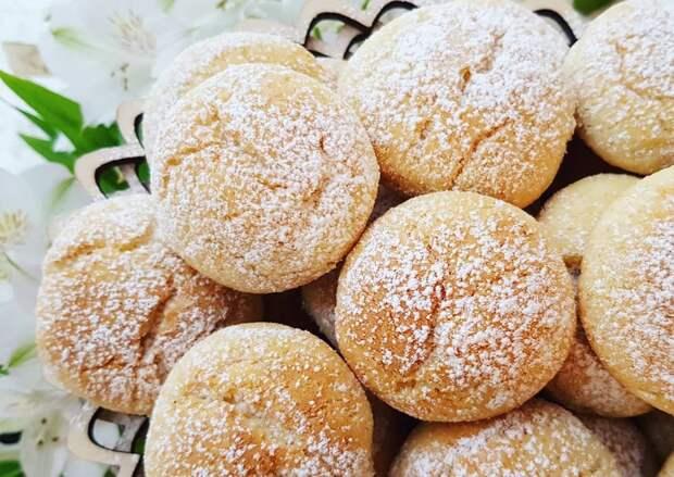 Домашнее печенье – очень нежное и рассыпчатое.
