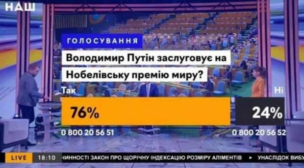 Скриншот эфира с итогами голосования