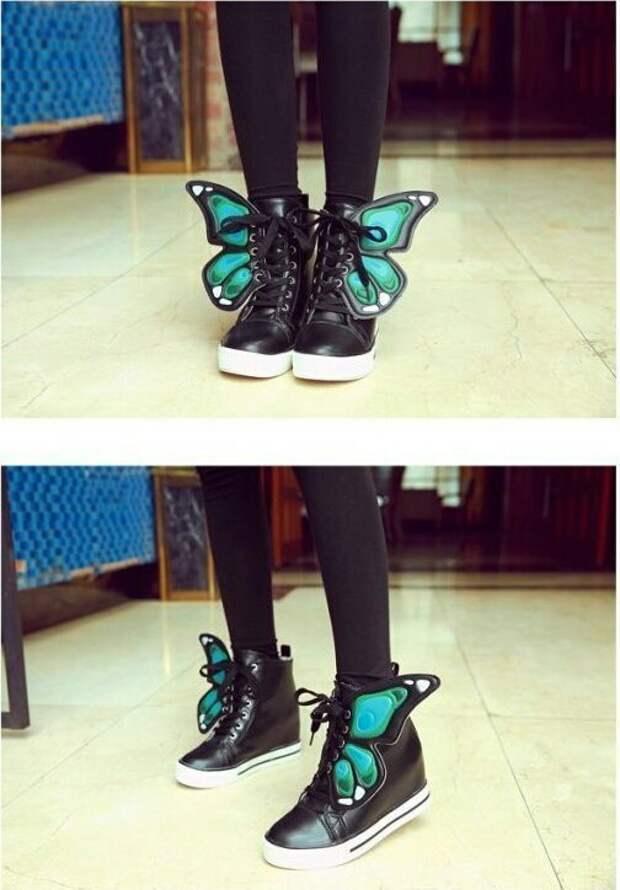Ботинки бабочки