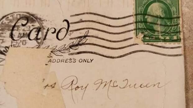 В США женщина получила сто лет назад отправленную открытку