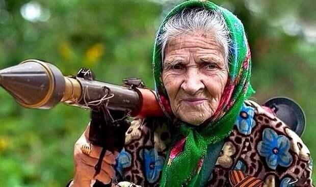 Пошла баба в огород и нашла гранатомет