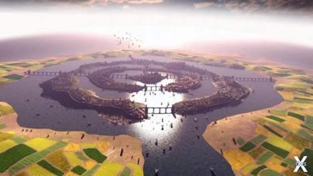 Реконструкция города Атлантида по опи...