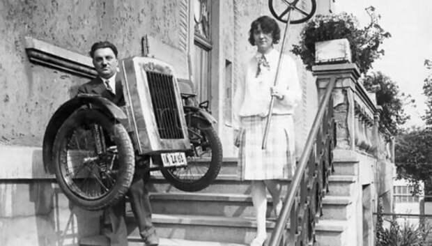 Как выглядела Zaschka Three Wheeler, первая в мире складная машина
