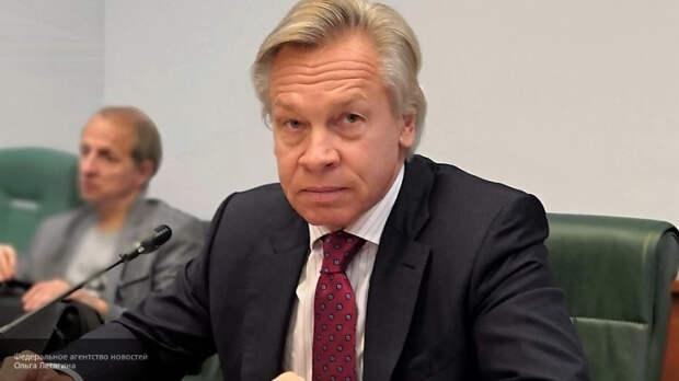 "Пушков восхищен тем, как глава МИД РФ ""поставил на место"" журналиста NYT"
