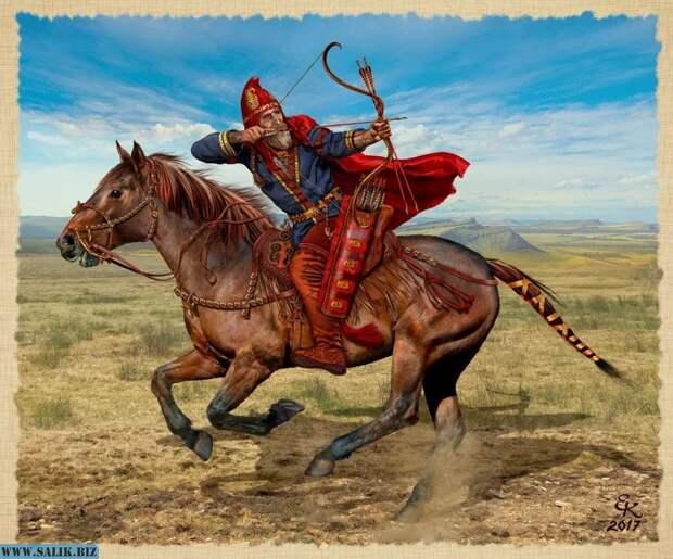 Воин - кочевник, художник Евгений Край.