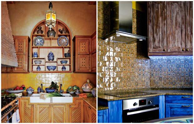 Марокканский стиль в интерьере кухни.