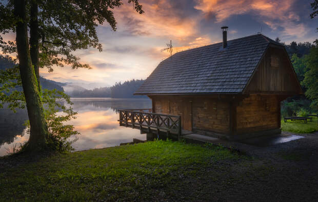 Lake Cabin by Croosterpix  on 500px.com