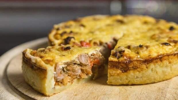 Открытый мясной пирог. Пирог получается вкусный, сытный и подойдёт для перекуса 2