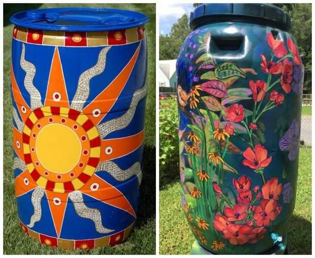 Раскрасить или спрятать: решаем судьбу бочки для воды