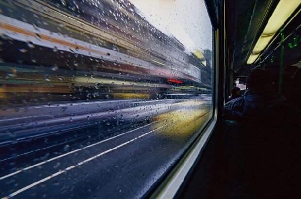 Транспорт, Размытым, Движущихся, Трамвай, Автобус
