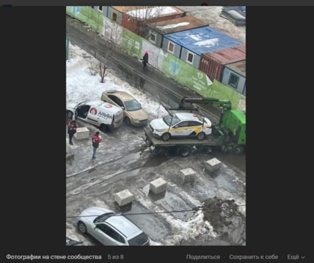 Склад стройматериалов будет занимать парковку на Перерве временно – управа