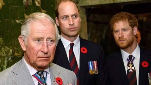Принц Чарльз, Гарри, Уильям. Источник: Youtube для любопытных