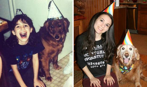 Бренди и я: 14 лет празднуем дни рождения вместе до и после, друзья, собаки, фото
