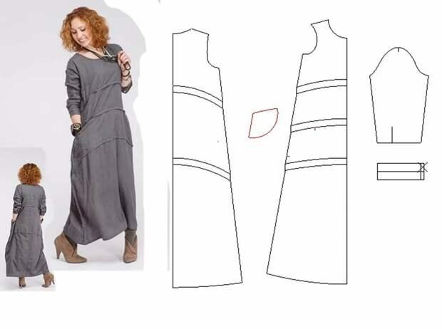 Выкройка платья в стиле бохо 0