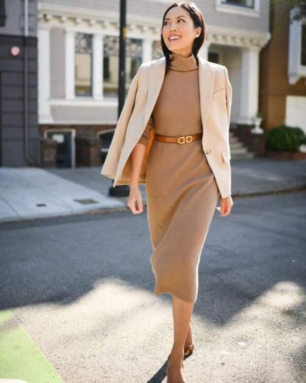 Модные трикотажные платья 2021: тренды и новинки