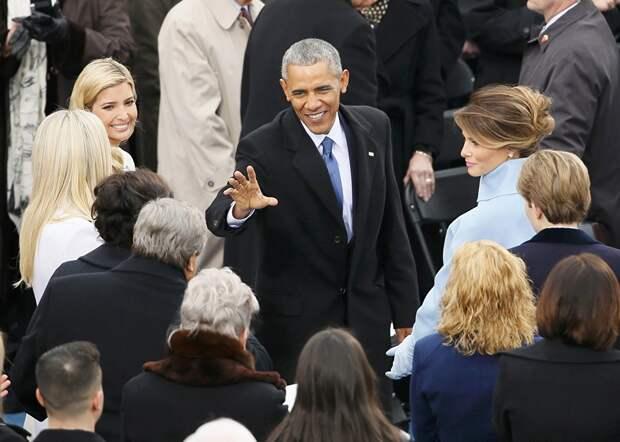 Президент США Барак Обама прибыл на инаугурацию Дональда Трампа. 20 января 2017