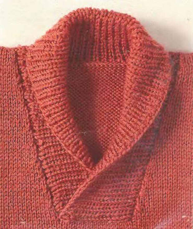 Вязание спицами для начинающих. Шалевый воротник - вставка.
