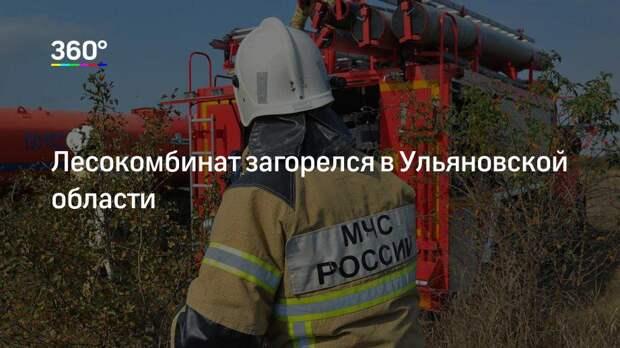 Лесокомбинат загорелся в Ульяновской области