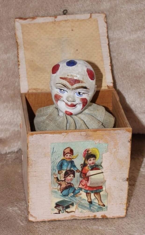 Jack-in-the-Box (игрушка производилась с XIV века) дети, игрушки, ностальгия