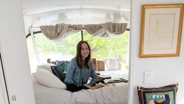 Американка потратила 70 тысяч долларов и превратила автобус-развалюху в дом своеймечты
