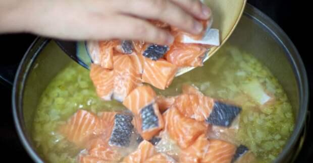 Рецепт вкусного супа со сливками и красной рыбой