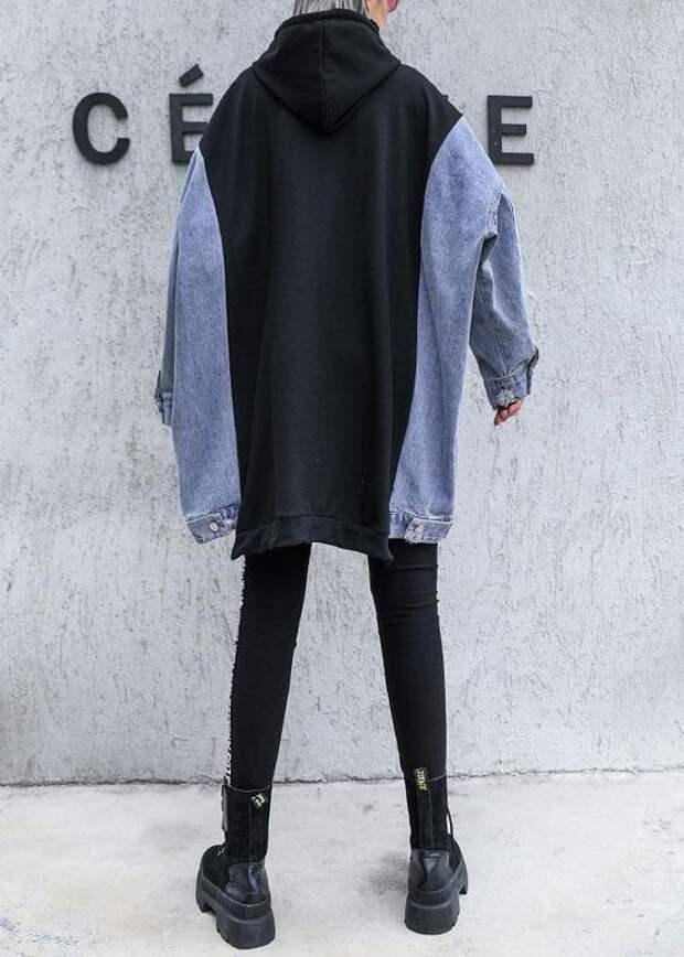 Платье из свитшота и джинсовки
