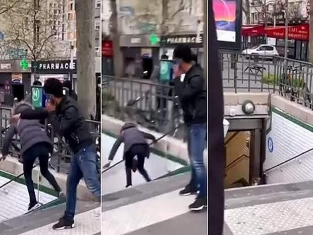 Мужчину депортировали из Франции за толкотню в метро