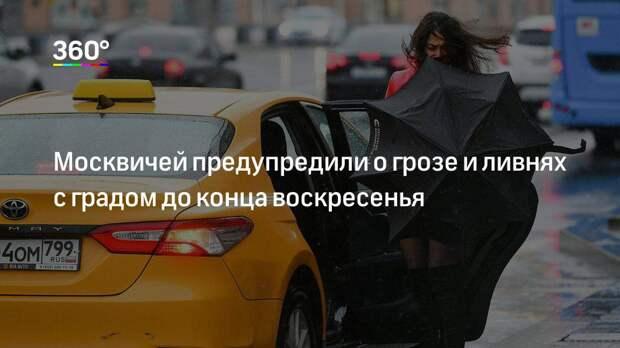 Москвичей предупредили о грозе и ливнях с градом до конца воскресенья